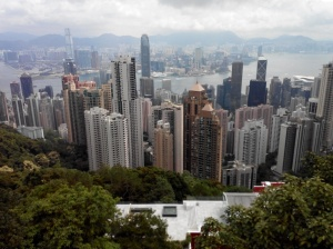 Pemandangan Hong Kong dari The Peak