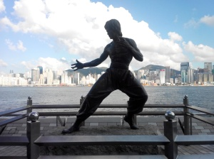 Patung Bruce Lee di Avenue of Stars
