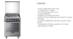 Freestanding Tecnogas N3X66G4E